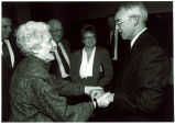Mary Louise Smith with Darrell Wyrick at The University of Iowa Foundation Meeting, Iowa City, Iowa, October 1991