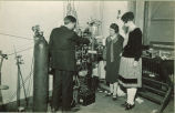Students in Physics laboratory, The University of Iowa, 1920s