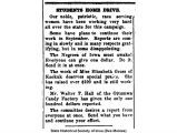 """Students home drive,"" August 22, 1919"