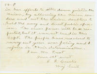 50. General Samuel R. Curtis to Lincoln on fugitive slaves in military camps