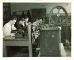 Engineering students working in a technology laboratory, The University of Iowa, 1939