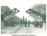 Structural engineering display for Mecca Day, The University of Iowa, 1910s
