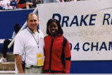 Drake Relays, 2004, Mark Kostek and Perdita Felicien