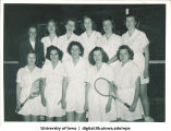 Tennis club, The University of Iowa, 1930s