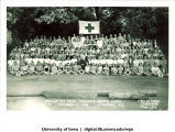 Large group at the American Red Cross Wisconsin Aquatic School, Oconomowoc, Wisconsin, August 1944