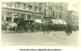 Parade celebrating Iowa's victory over Yale, The University of Iowa, October 1922