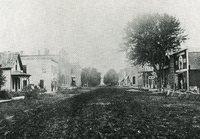 B Avenue looking west, 1905
