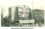 Architects' float, Mecca Day parade, The University of Iowa, 1914
