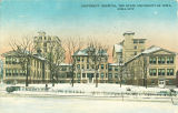 Street view of State University Hospital, the University of Iowa, 1930s?