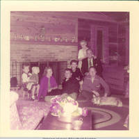 Frindy and John, Sr. pose with Gronen family members on hearth