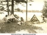 Camping at Lake Hayward, Wisconsin, 1940s