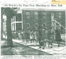 64 WAACs do their fist marching--to mess hall