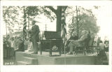 Speaking at the ground-breaking ceremony for the Medical Laboratories, the University of Iowa, circa 1924