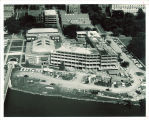 Aerial view of Iowa House construction in Iowa Memorial Union, the University of Iowa, between 1962 and 1965