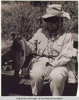 Elizabeth Burden holding a fish