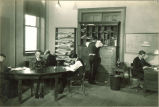 Study lounge for journalism students in Close Hall, The University of Iowa, 1920s