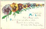 """I send you my love and a pansy smile,"" January 27, 1921"