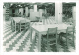 Stacks and study area at Main Library, the University of Iowa, 1951