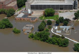 Aerial photographs of flooding around North Hall, The University of Iowa, June 16, 2008