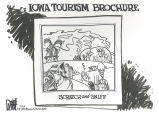 Iowa tourism brochure