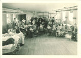 Group of patients in gymnasium of Children's Hospital, The University of Iowa, August 1925