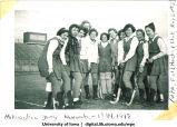"Milwaukee ""gang""  field hockey players, The University of Iowa, November 1948"
