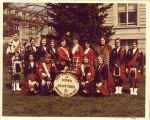 University of Iowa Scottish Highlanders on Pentacrest, 1975 or 1976