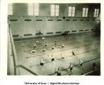 Exhibition water polo game, Tallahassee, Fla., 1930s