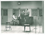 Vocal duet with piano in the Iowa Memorial Union, the University of Iowa, 1950s?