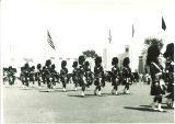 Scottish Highlanders marching, The University of Iowa, 1960s?