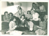 Sorority women playing cards, The University of Iowa, 1950s