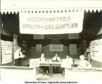 University of Iowa headquarters at the Iowa State Fair, The University of Iowa, August 1921