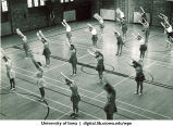 Class in Halsey Gym, The University of Iowa, 1950s
