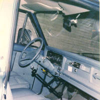 Interior shot of Four Mounds vehicle