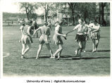 Students playing a game outside, The University of Iowa, April 30, 1938