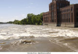 Iowa River flooded, The University of Iowa, June 16, 2008