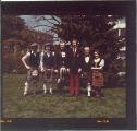 University of Iowa Scottish Highlanders on Pentacrest, April 16, 1977