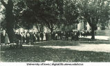 Students in line for registration, The University of Iowa, September 1920