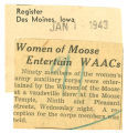 Women of Moose entertain WAACs