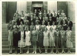 All-State summer session group on steps of Old Capitol, The University of Iowa, 1933