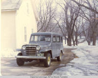 Vehicle parked next to Chauffeur's house during the Winter