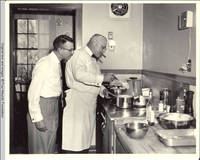 Leo Heitzman and Milton Kirch cooking in the White house kitchen