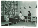 Women relaxing in lounge, Iowa Memorial Union, the University of Iowa, November 1948