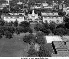 Old Capitol, Pentacrest, Hubbard Park, The University of Iowa, 1958