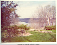 Rock garden with view of Mississippi River