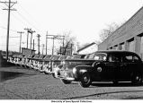 Ambulance fleet, The University of Iowa, October 21, 1945