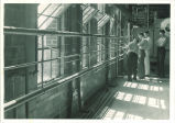 Men at open windows of Hydraulics laboratory, The University of Iowa, 1940s