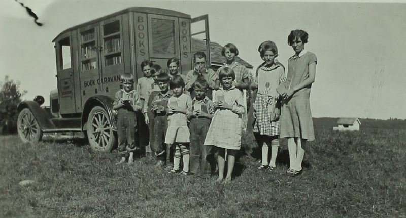 Students Using the Book Caravan