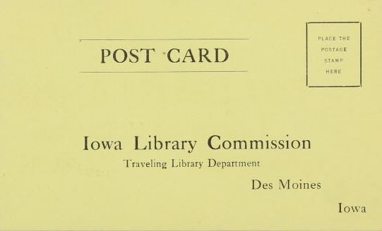 Borrower Postage Card: Traveling Library Collection