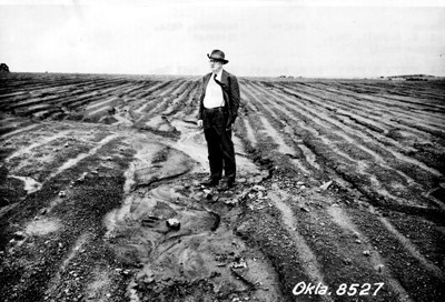 Hugh Hammond Bennett in a field in Oklahoma_Exhibit